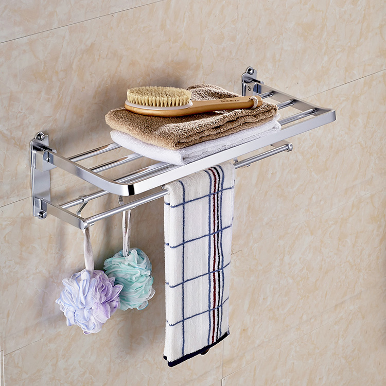 High quality ceramic decorative bathroom towel rack stainless steel holder