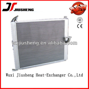 OEM Brzed OEM Brzed aluminum oil radiator of plate fin price for construction machine with corrugated metal fins