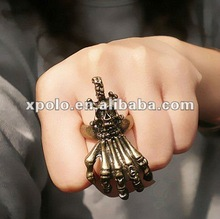 2012 Personality Skull Head Ghost Hand Punk Open Ring