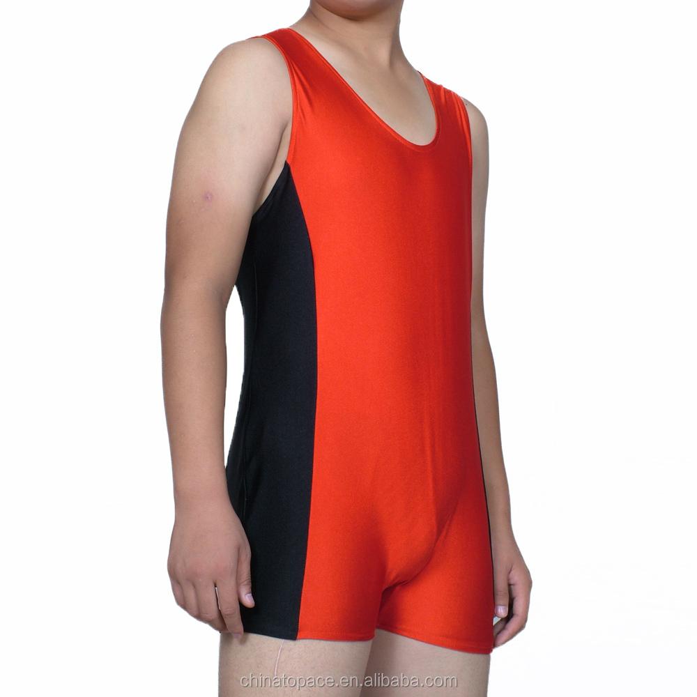 c8228471e1 Männer Einteiler Trikot Boxer Bodysuit Großhandel Wrestling Singlet  Unterhemd Spandex Lycra Boxer Sexy Kostüm Ganzanzug Overall