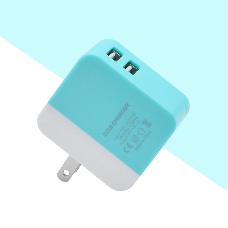 Colorful Universal Travel USB Charger Adapter Wall Portable US Plug Mobile Phone Smart for Mobile Phone