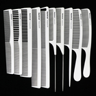 Masterlee Brand Professional Salon Use Barber White Carbon Hair Comb