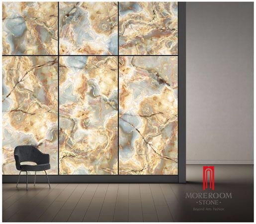 Backlight Luxury Thin Onyx Stone Honeycomb Panels From