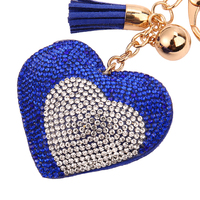 Dual peach heart shaped keychain fashion for lover happy Valentine's Day