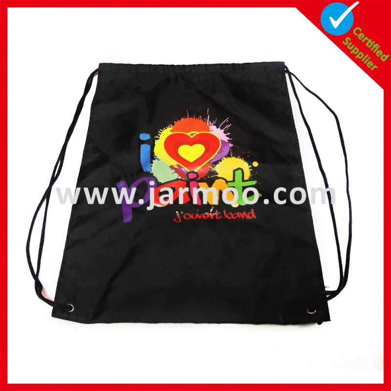 Factory audit plain drawstring bags draw string bag pattern small nylon mesh drawstring bags