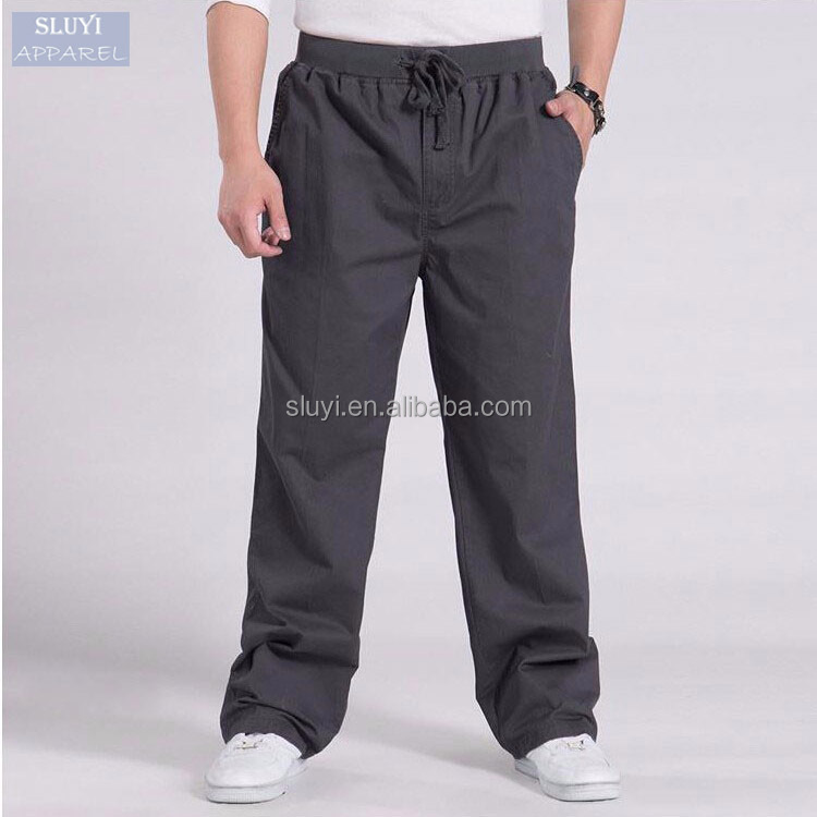 Plus size Men's Cargo Pants Casual sweatpants sports loose Men Joggers Trousers elastic waist bulk buy clothing sweatpants men