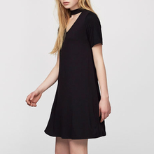 black casual dress for ladies