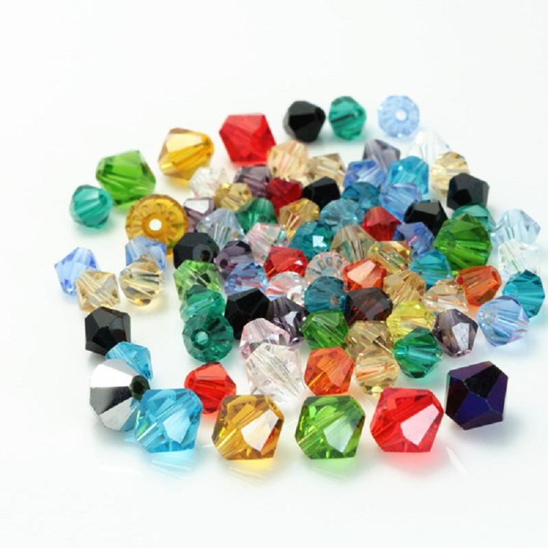 Get Quotations 8mm Crystal Quartz Faceted Bicone Beads 40pcs Lot European Charm Diy For Bracelets