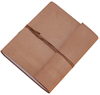 High quality light brown genuine leather cord closure journal manufacturer