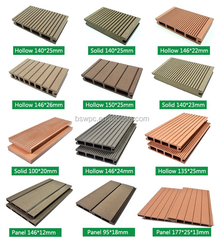 Wpc Groove Outdoor Plastic Vinyl Decking Boards Buy
