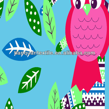 Leaf Fish Print Cotton Flannel / Cotton Fabric For ...