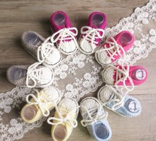 2018 wholesale hello kitty crochet baby shoes on sales