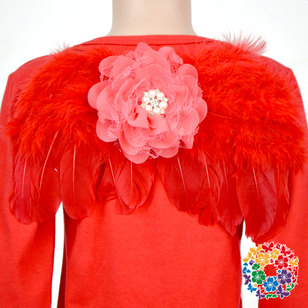 Red Color Toddlers Cosplay Feather Wing For Party Small Fairy Wings For Girls Wholesale Baby Fairy Angel Wings