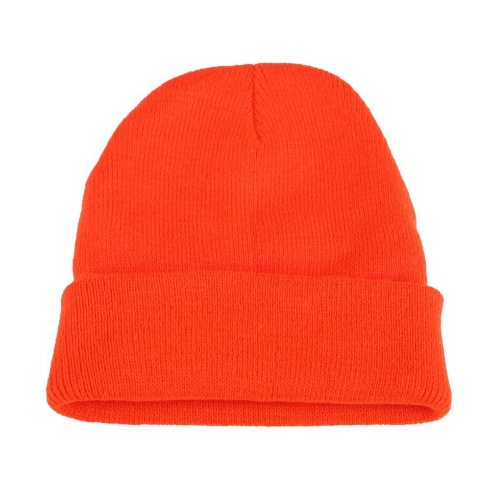 High Quality Winter Plain Dyed Custom Beanie Hat 100% Acrylic Warm Knitted Beanie