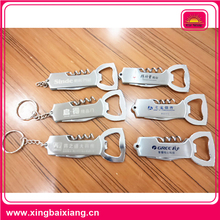 High quality deluxe wine bottle opener corkscrew keychain