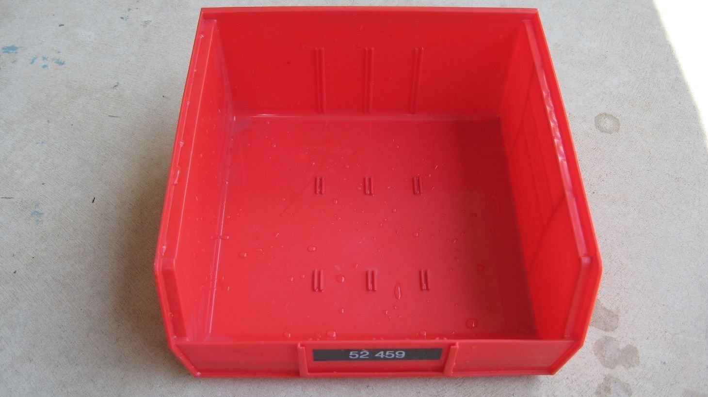 """10 Used Plastic Stackable Part Storage Bins Containers 10.5"""" X 11"""" X 5"""""""