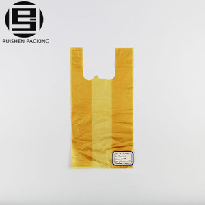 Cheap small singlet handle plastic packing bags