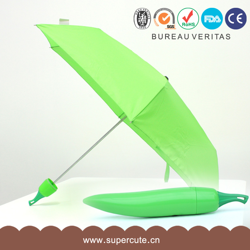 Supercute Mini Portable Strong Frame Three Folding umbrella Anti-UV Umbrella Sunny Rain Protection for Men Women Kids