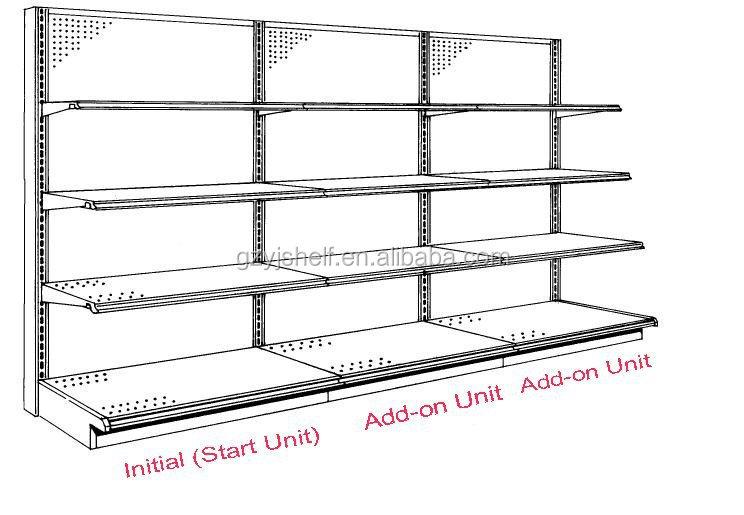 Ajustable montado en la pared estantes alta calidad for La gondola muebles