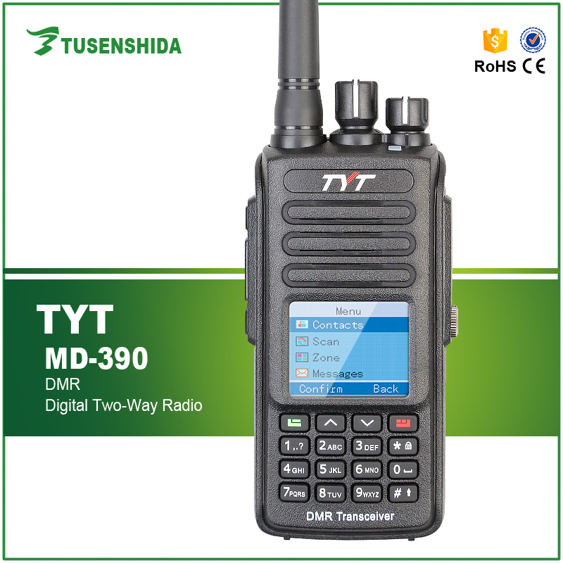 Ham Radio Transceiver DMR Two Way Radio with GPS Function TYT MD-390