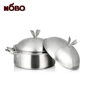 Good quality stainless steel stock pots wholesale hot pot