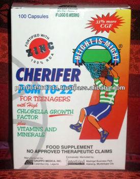 100 Capsules Cherifer Pgm 10-22 With Zinc Height Vitamins ...