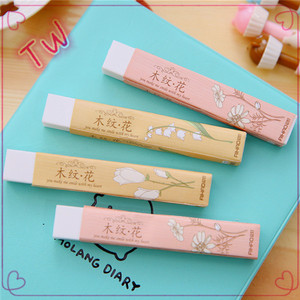 Philippines latest hot selling kids stationery items promotion cute rubber pencil eraser,long eraser free sample