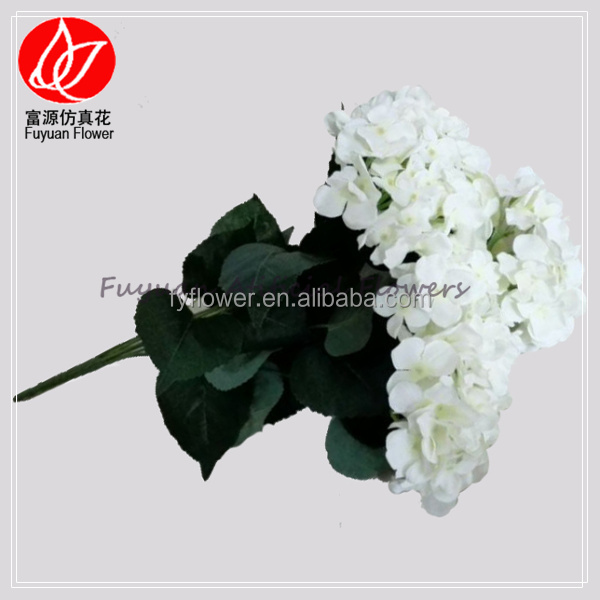 140510 factory direct made in China wedding decorating artificial flower fake white hydrangea bouquet