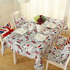 Classic Traditional Flag Outdoor Tablecloth Modern British Loyalty Symbol USA Flag Decorative Washable Picnic Table Cover