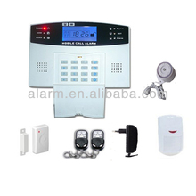 cheap LCD alarm wireless wired home GSM burglar alarm system, voice indication home security device