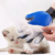 PET Gentle Grooming Deshedding Brush Glove กำจัดขน