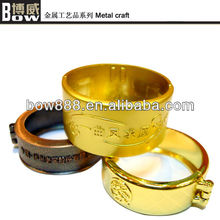 Exquisite brass ring shape metal handicraft