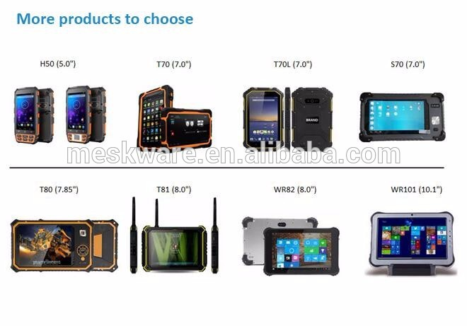Rugged smart phone call industrial cellphone PDA Handheld 4G lte NFC LF HF UHF RFID QR code 2D IP67 GPS waterproof phone