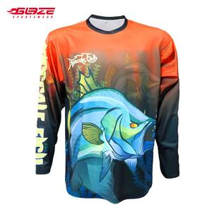 Wholesale professional anti UV custom sublimation 4XL fishing shirts