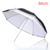 Photography Studio 84cm Silver Black Soft White 2 in 1 Double Layer Reflective Umbrella