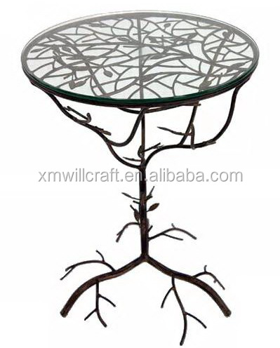 glass top metal Tree Branch Coffee Table