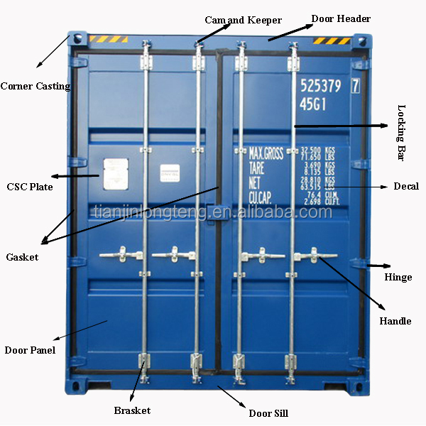 Marine 20 foot 40ft Shipping Container Spare Part for Sale