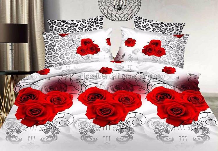 New design romantic love rose printed bed cover. New Design Romantic Love Rose Printed Bed Cover   Buy Love Rose
