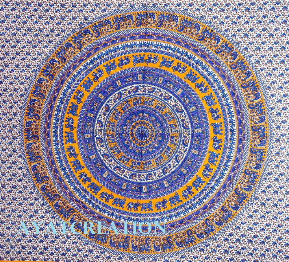 indian Floral Mandala Hippie Tapestry Wall Hanging Bohemian Boho Bedding Throw Bedspread ethnic home decorative