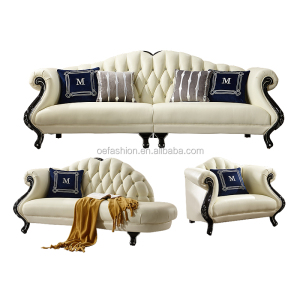OE-FASHION Hot sale wooden sofa set designs living room furniture