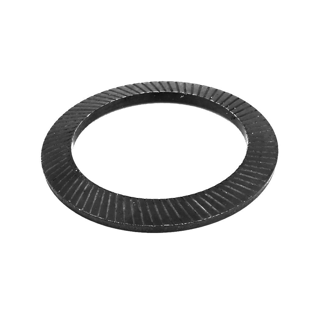 uxcell 36mm Inner Dia 3mm Thickness Carbon Steel Wedge Locking Washer