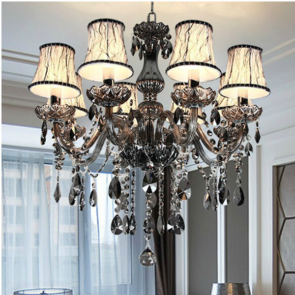 moderne led cristal lustres pour cuisine chambre salon chambre gris couleur k9 cristal lustres. Black Bedroom Furniture Sets. Home Design Ideas