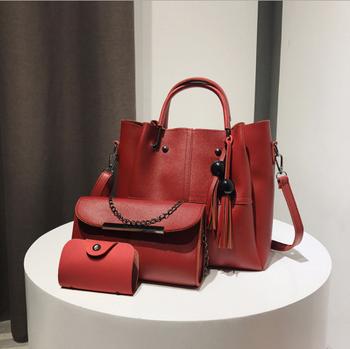 0752353b7948 3/1 шт PU сумка набор элегантные женские сумки оптом дамы кошелек дамы pars  ручной