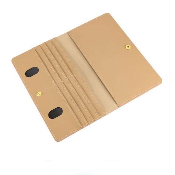 Leather Credit Card Holder Business ID Card Case Book Style Passport Holder