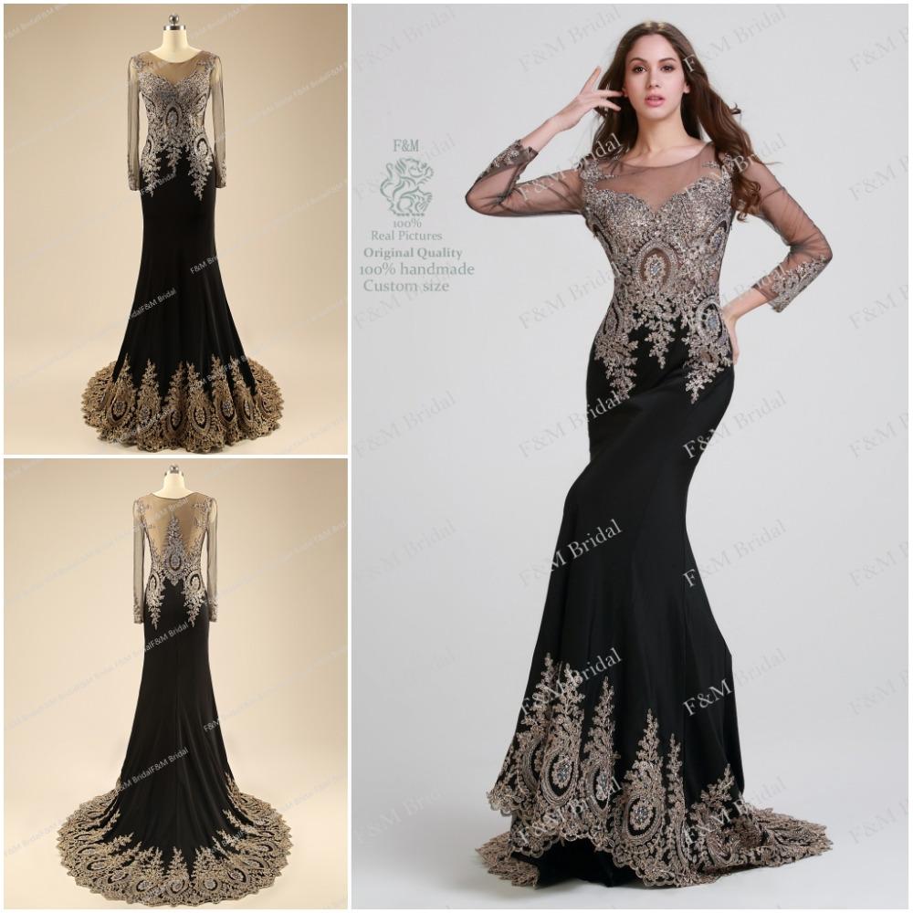 elegant black prom dresses - photo #7