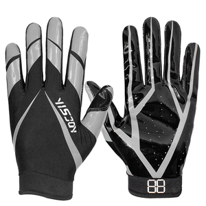 Goal keeper gloves silicone grip football receiver gloves for athlete
