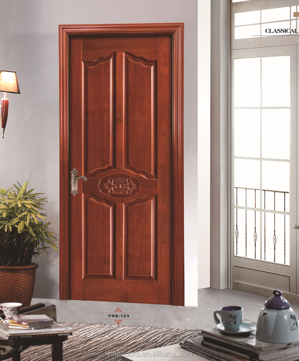 Hot sales entrance mdf flush surface finished wooden panel for Main door panel design