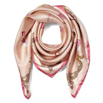 Digital Printing Plain White Twill Silk Scarf