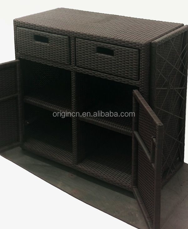 schubladen und t ren gestalteten au en rattan m bel f r terrasse ess g nstige schrank buy. Black Bedroom Furniture Sets. Home Design Ideas