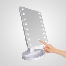 Best quality 22 led 빛 메이 컵 mirror 와 USB charging touch screen